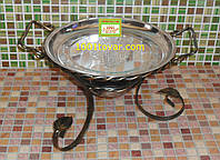 VIP кованная подставка садж для шашлыка или таганок, 28х15,5 см.