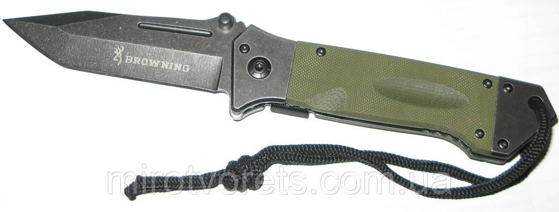 Нож полуавтомат Browning танто
