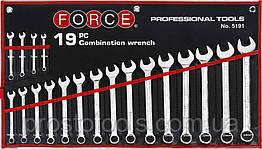 Набор рожково-накидных ключей  на полотне (6-24 мм) 19 пр  Force 5191 F