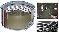 ПОНТОНЫ ДЛЯ РЕЗЕРВУАРОВ ULTRAFLOTE Понтоны для резервуаров Ultraflote Corp. — это совершенные алюминиевые конс