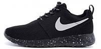 Мужские кроссовки Nike Roshe Run Black Dalmatin, найк роше ран