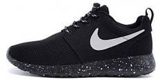 Мужские кроссовки Nike Roshe Run Black Dalmatin