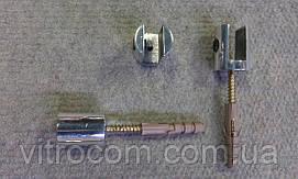 Полкодержатель хром для стеклянной полки толщиной 6-8 мм