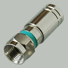 Разъем F серии, для кабеля RG 6 компрессионный