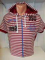 Футболка мужская CABIN хорошие размеры, с капюшоном, на змейке 002 \ купить футболку оптом, Одесса 7 км
