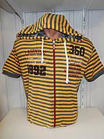 Футболка мужская CABIN хорошие размеры, с капюшоном, на змейке 006 \ купить футболку оптом, Одесса 7 км