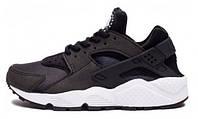 Мужские кроссовки Nike Air Huarache Black/White, найк аир хуарачи