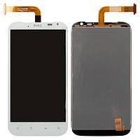 Дисплей + touchscreen (сенсор) для HTC Sensation XL X315e G21, белый, оригинал