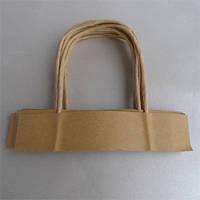 Бумажная ручка для пакетов из бурого крафта, фото 1