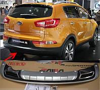 Накладка на задний бампер KIA Sportage 2010-2012, фото 1