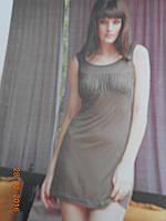 Платье с драпировкой на груди