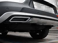 Накладки на бампер задние KIA Sportage 2010-14 (на плоский бампер) (BKT-KSP-B07)