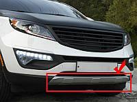 Накладки на бампер передние KIA Sportage 2010-14  (BKT-KSP-B04)