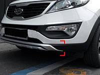 Накладки на бампер передние KIA Sportage 2010-14  (BKT-KSP-B06)
