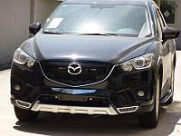 Накладки на бампер передние Mazda CX5 (BKT-CX5-B21)