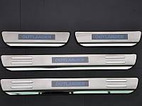 Накладки на пороги с подсветкой для Mitsubishi Outlander 2014+ (BKT-MO-P32)
