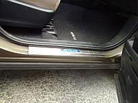 Накладки на пороги с подсветкой для Toyota RAV-4 2013+ (BKT-RV-P33)