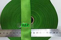 Лента атласная двухсторонняя 30мм, цвет бледно-зеленый,яркий. Турция