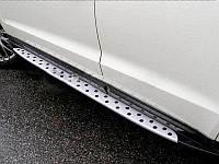 Пороги БМВ стиль Hyundai Santa Fe IX45 2013+ (BKT-HS-S33)