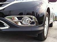 Хром галогенок на Honda CR-V 2012+ (BKT-CRV-L23)