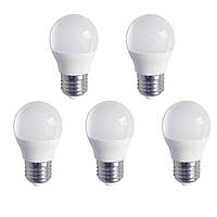 5шт Светодиодная LED лампочка LB-745 E27 6W 4000K