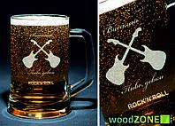 Пивной бокал 0.5 с именной гравировкой [Пиво, Девки, ROCK&ROLL], фото 1