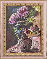 """Ловис Коринт """"Хризантемы и розы"""". Репродукция"""