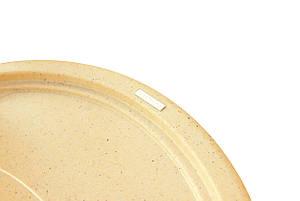 Овальная кухонная мойка Granitika Oval O785020 беж 78х50х20, фото 2