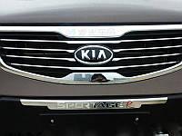 Хромированная решетка радиатора с лого для KIA Sportage 2010-14 (BKT-KSP-G01)