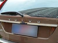 Хромированные накладки на багажник (над номерным знаком) Volvo XC60 2008-13 (BKT-XC6-C21)