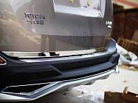 Хромированные накладки на багажник (низ) Toyota RAV 4 2013+ (BKT-RV-D36)