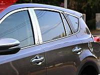 Хромированные накладки на двери Toyota RAV 4 2013+ (BKT-RV-D37-39)