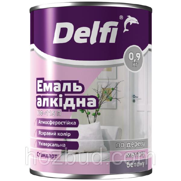 "Емаль алкідна ПФ-115П ТМ ""Delfi"" (помаранчева) 0,9 кг"