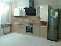 Кухня золотой металик и слоновая кость, фото 1