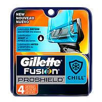 Gillette Fusion ProShield Chill сменные картриджи в упаковке 4 шт, США