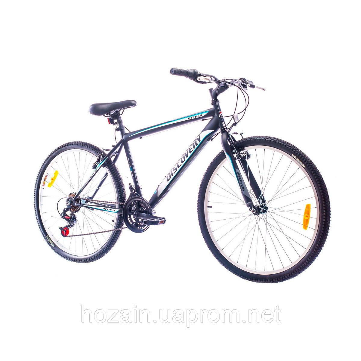 """Велосипед 26"""" Discovery ATTACK 14G Vbr St чёрно-белый 2016"""