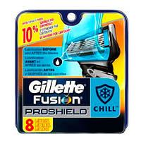 Gillette Fusion ProShield Chill сменные картриджи в упаковке 8 шт, 5, Gillette, США