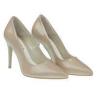 Изысканные туфли для стильной женщины от cobra (элегантные, бежевого цвета, на шпильке)