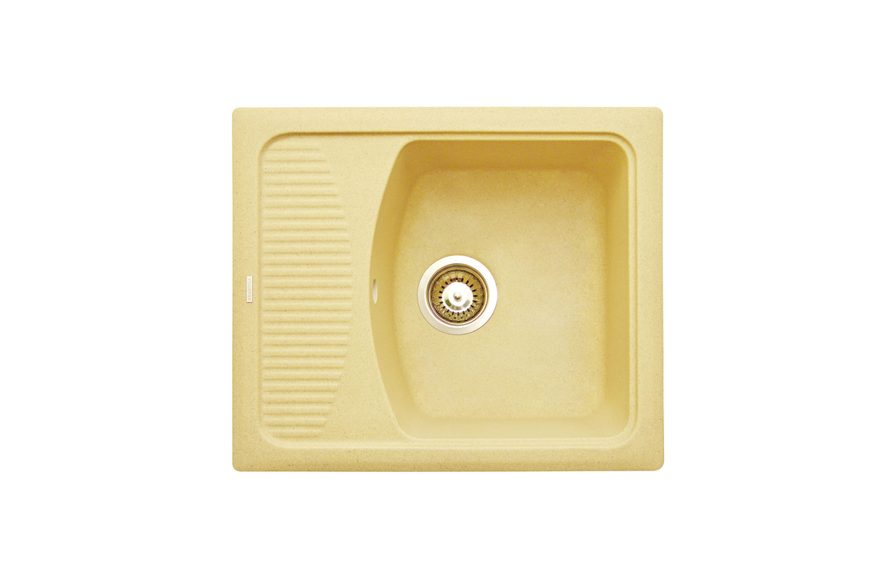 Прямоугольная кухонная мойка Granitika Cube Bevel CB585020 беж 58х50х20