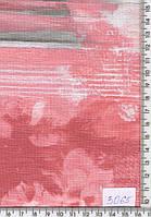 Трикотаж (березка,серо-розовый с рисунком) 3065