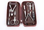 Маникюрный набор в подарочной упаковке на змейке шоколадного цвета МАСТЕР (Россия) CVL  /0-921, фото 3