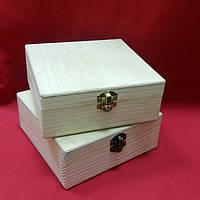 Заготовка для декупажа шкатулка деревянная (12*12*5 см.)