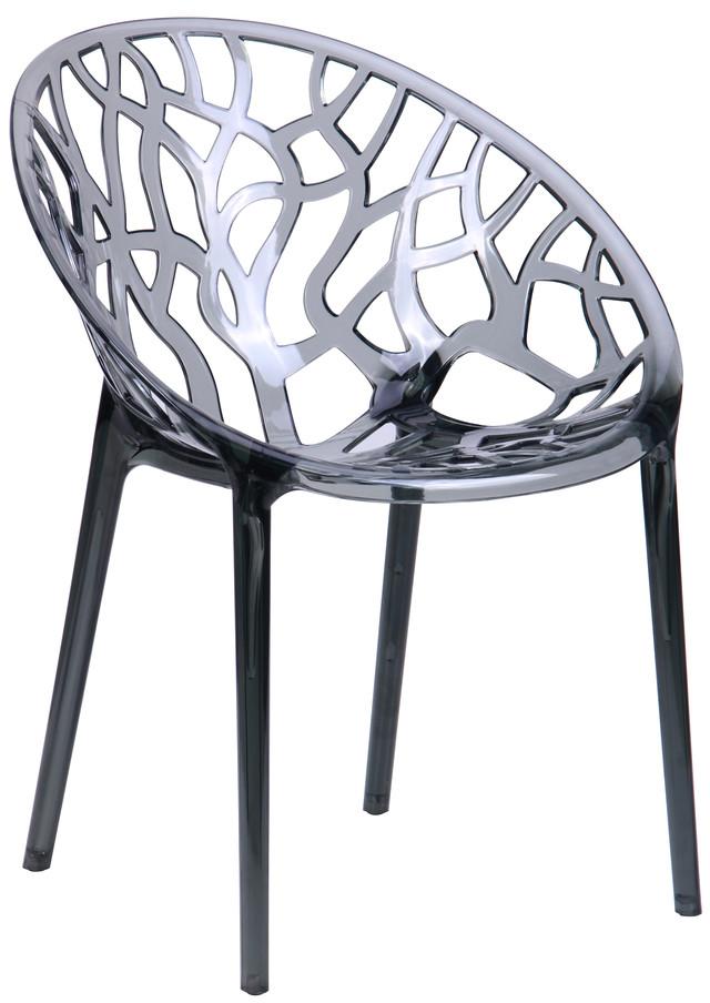Стул кухонный Coral Пластик Т-чёрный (прозрачный ) вид. Высота от пола до сиденья - 460 мм. Высота спинки - 440 мм. Высота стула с учётом спинки - 790 мм.