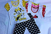 Комплект детский, футболка микки+шортики, Украина/ купить детский комплект дешево оптом со склада 7км