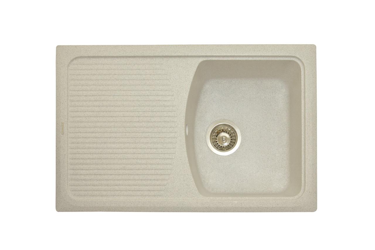 Прямоугольная кухонная мойка Granitika Cube Long CL785020 лён 78х50х20