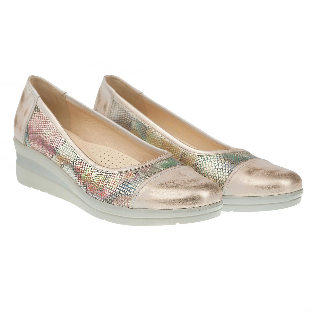 Туфли для активных женщин от steizer (удобные, на белой подошве, с  золотистым блеском) e7dd8251df4