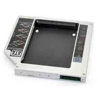 """Фрейм-переходник Grand-X подключения HDD 2.5"""" в отсек привода ноутбука, SATA/mSATA (HDC-24)"""