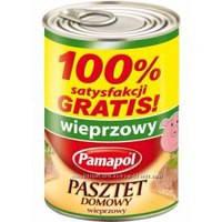 Паштет Pamapol мясной 390г,Польша