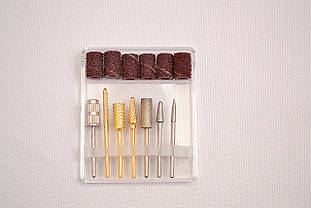 Набор маникюрных и педикюрных алмазных насадок (7 шт) для фрезера DP 30