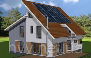 Сетевая солнечная станция 5 кВт (1-фаза, 1 МРРТ). Зелёный тариф.